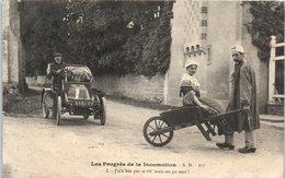 Auto - Les Progrès De La Locomotion - Automobiles - Brouette - Humour - Cartes Postales