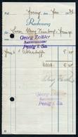 B6488 - Penig - Rechnung Quittung - Georg Zeißler Sattler - Allemagne