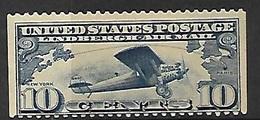 US   1927   Sc#C10a  10c  Lindbergh Airmail Coil Single  MH   2016 Scott Value $7 - Air Mail