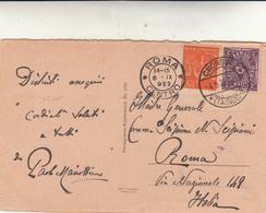 Kronberg Im Taunus To Roma Su Post Card  1922 - Germany