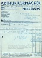 B6492 - Merseburg - Rechnung Quittung - Arthur Kornacker - Papier Verarbeitung - Allemagne