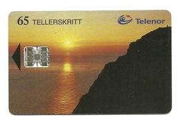 Norvegia - Tessera Telefonica Da 65 Units T551 - Telenor, - Paysages