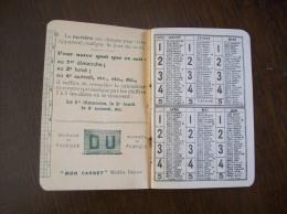 "Agenda De 1915 ""Mon Carnet"" - Calendriers"
