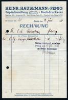 B6493 - Penig - Rechnung Quittung - Heinrich Hausemann Papier Druckerei - Allemagne
