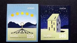 Island 1244/5 **/mnh, EUROPA/CEPT 2009, Astronomie - 1944-... Republik