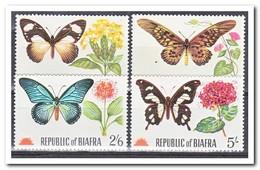 Biafra 1968, Postfris MNH, Butterflies, Flowers - Nigeria (1961-...)