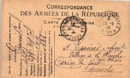 Correspondance Des Armées De La République - Cerisy La Forêt - Mr Leprieuix (oblitération Trésor Et Postes) - Marcophilie (Lettres)