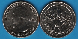 USA ¼ Dollar Washington Quarter 2012 D DENALI ALASKA ANIMAL - Émissions Fédérales