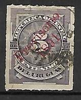 URUGUAY    -  1891 .  Y&T N° 84 Oblitéré.   Surchargé - Uruguay