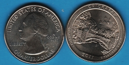 USA ¼ Dollar Washington Quarter 2011 D CHICKASAW OKLAHOMA OISEAUX - Émissions Fédérales