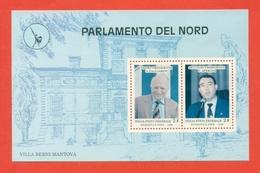 ERINNOFILIA-VIGNETTE ERINNOFILE-POLITICA-ITALIA FEDERALE -17° EMISSIONE-BF PARLAMENTO DEL NORD - Erinnofilia