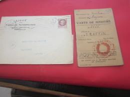 Document Historique Carte Sinistré-R. Cabannes 13 Attribution Espèces 2000 F+lettre Famille Nombreuse Obtention Charbon - Historical Documents