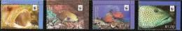 (WWF-463) W.W.F. Aitutaki Groupers / Fish / Fishes MNH Stamps 2010 - W.W.F.