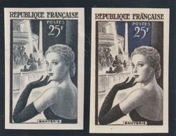France  Non Dentelé N° 1020 *+ 1 Essai De Couleur Avec Une Légére Froissure - Francia