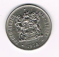 =&   ZUID AFRIKA  50 CENT  1974   BILINGUAL  LEGEND - Afrique Du Sud
