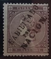 Cuba 22A Sin Goma - Cuba (1874-1898)