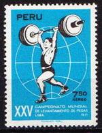 Peru MNH Stamp - Weightlifting