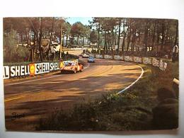 """Carte Postale Le Mans - Circuit Des 24 Heures Du Mans -Dans Le """"S"""" Du Tertre Rouge (Petit Format Couleur 1965 + Tampon) - Le Mans"""