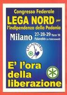 ERINNOFILIA-VIGNETTE ERINNOFILE-POLITICA-ITALIA FEDERALE -27° EMISSIONE-CARTOLINA CONGRESSO FEDERALE LEGA NORD - Partiti Politici & Elezioni