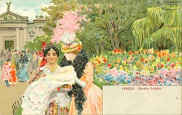 Italie - Venise - Venezia - Cartoline Assolutamente Originali Dell'epoca - Giardini Pubblici - Venezia (Venice)