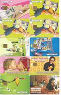 Lot De 10 Télécartes Années 2002 2003 Et 2004 (Cabine Bagages Macarte La Ville Musiciens Etc) - Télécartes