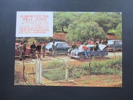 Israel 1977 Echtofoto AK The Good Fence Metulla Sonderstempel - Cartas