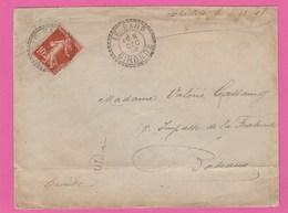 Gironde - Le Barp - Facteur Boitier - 1908 Sur Type Semeuse 10C - Lettre Vers Bordeaux - Marcophilie (Lettres)