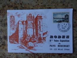 1er Jour Rodez Aveyron 8eme Foire Expo Du Pays Rouergat1966 - FDC