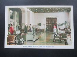 Israel AK King David Hotel, Jerusalem (Main Hall) A Finlay Colour Photograph Printed In England By Rye House (Widbury) - Hotels & Gaststätten