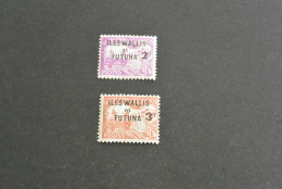 K15363-set  Mint Hinged Wallis Et Futuna 1927 - SC. J9-J10 - Postage Due Stamps Of New Caledonia Overprinted - Postage Due