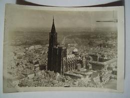 PHOTOGRAPHIE Ancienne : STRASBOURG / VUE AERIENNE - CATHEDRALE 1919 - Lieux