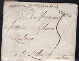 France, Pas De Calais -Bapaume De 1791, Lenain N° 3, Indice 11 - Marcophilie (Lettres)