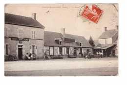 03 Gannay Sur Loire La Place Cpa Carte Animée Animation Hotel Guillaumin Oblitération Cachet Gannay Sur Loire 1909 - France