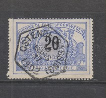 COB 17 Oblitéré OSTENDE (Bassins) - 1895-1913