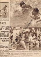 NATATION : 1953, CHARENTON - SURESNES, TRAVERSEE DE PARIS A LA NAGE, ABOU HEIF, HAMAD, EGYPTE, COUPURE REVUE, 2 SCANS - Natation