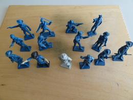Starlux  14  Soldats Nordistes Guerre Secession A Peindre  1970  Plastique - Starlux