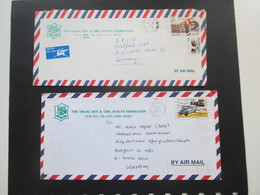 Pfadfinder The Israel Boy & Girl Scouts Federation P.O.B. 9514 Tel-Aviv Israel. 2 Luftpostbelege 1994 / 95 - Covers & Documents
