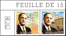 France N° 4970 Et 4971 ** Diptyque Gilberto Bosques - Diplomate Mexicain. Cdf Logo - Francia