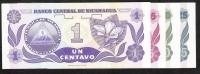 NICARAGUA P167-170     1,5,10,25 CENTAVOS    1991    UNC. - Nicaragua