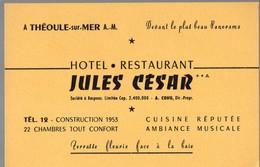 Théoule Sur Mer (06 Alpes Maritimes) HOTEL RESTAURANT JULES CESAR  (PPP14759) - Advertising