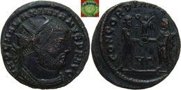 Roman Empire - AE Radiate Fraction Of Maximianus Herculius (285 - 286 - 310 AD), CONCORDIA MILITVM, Jupiter - 6. La Tétrarchie (284 à 307)