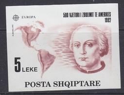 Europa Cept 1992 Albania M/s ** Mnh (40401) - Europa-CEPT