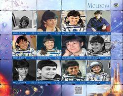 Moldova 2018, Space, Russia Woman Cosmonaut S. Savitskaya, Sheetlet Of 12v - Moldova