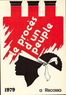 Corse, Corsica A Riscossa, Le Proces D Un Peuple, 1979, Cpm      (bon Etat) - Otros
