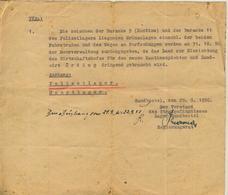 Sandbostel / Kreis Gnarrenburg V. 1950 Katinenpächter Oerding Bekommt Land Vom Lager Zurück (53981-111) - Bremervörde