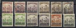 "HUNGARY  AUSTRIA 1921 WESTERN HUNGARY 10 Stamps  Overprint ""Lajtabánság Posta""MNH +@ - Oblitérés"