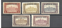 "HUNGARY  AUSTRIA 1921 WESTERN HUNGARY 5  PARLAMENT Stamps  Overprint ""Lajtabánság Posta""MNH - Oblitérés"