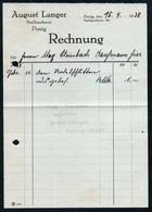 B6494 - Penig - Rechnung Quittung - August Langer Stellmacher - Allemagne
