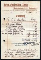 B6473 - Penig - Rechnung Quittung - Heinrich Hausemann - Papier Buchdruckerei Druckerei - Allemagne