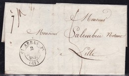 France, Pas De Calais - Càd 12 Arras Sur LAC De 1831 - Marcophilie (Lettres)